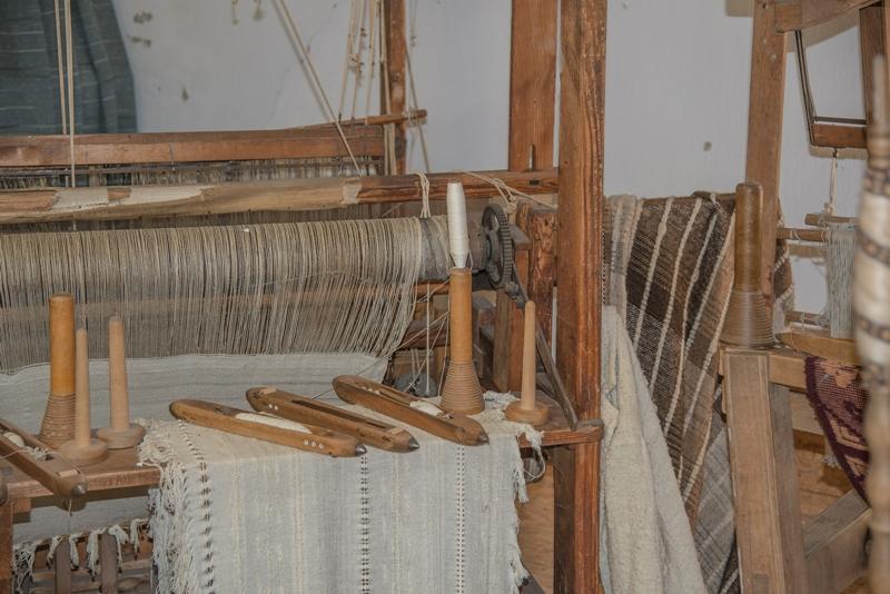 antiker Holzwebrahmen