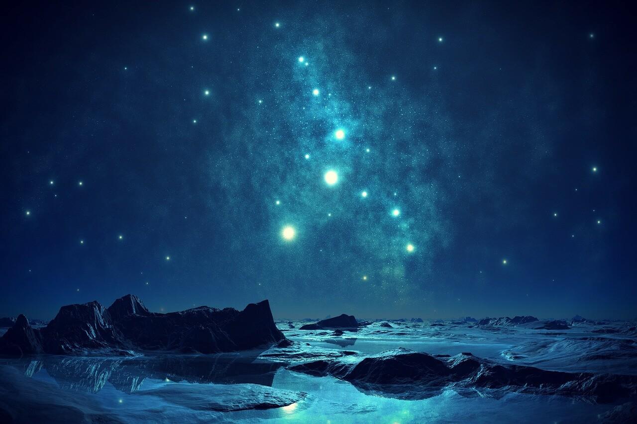 Himmel, Hoffnung, Sterne, Licht,